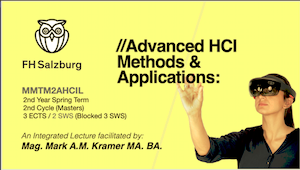 Advanced HCI - Methods and Applications